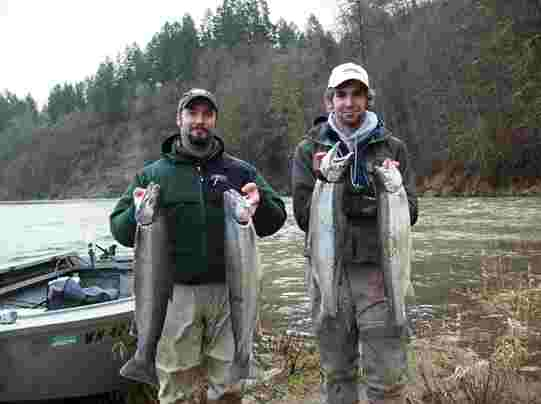 Happy West Coast Anglers' Clients with a nice limit