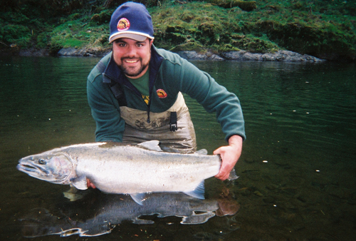 A fresh coastal steelhead